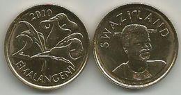 Swaziland 2 Emalangeni  2010. UNC KM#46 - Swaziland
