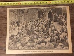 ANNEES 20/30 FUNERAILLES DE LA DUCHESSE D UZES A BONNELLES - Vieux Papiers