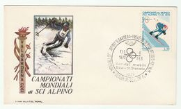 1970 8th Feb  WORLD ALPINE SKIING CHAMPIONSHIP EVENT COVER Selva Val Gardena ITALY Ski Sport Stamps Mountain - Skiing