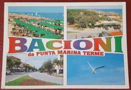 PUNTA MARINA TERME (RAVENNA) - SALUTI DA... (BACIONI) - VEDUTINE Vg - Ravenna