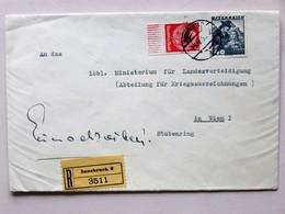 ÖSTERREICH // 193(?), R-Brief, Gest. INNSBRUCK => WIEN, Mischfrankatur DEUTSCHES REICH - ÖSTERREICH - 1918-1945 1. Republik