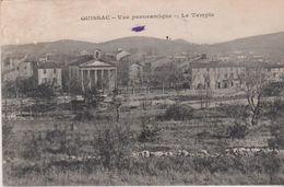 QUISSAC (30) Vue Panoramique . Le Temple (protestant - Quissac