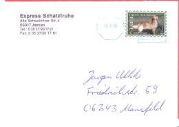 Express Schatztruhe  Brief- Und Kuriersdienst Jessen   € 0,45  Golden Retriever Auf Brief - BRD