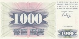 Bosnia & Herzegovina  #15 1,000 Dinara 1992 Banknote - Bosnia And Herzegovina