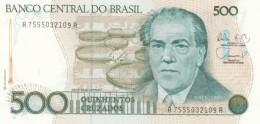 Brazil  #212d, 500 Cruzados, 1988 UNC Banknote - Brazil