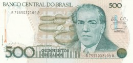 Brazil  #212d, 500 Cruzados, 1988 UNC Banknote - Brazilië