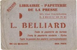 ---- BUVARD ---  Papeterie - LIBRAIRIE BELLIARD  à LIBOURNE - Stationeries (flat Articles)