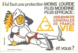 ---- BUVARD ---  Protection Moins Lourde Assurances Générales De France TTBE - Banque & Assurance