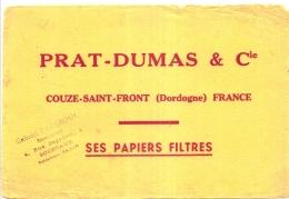 ---- BUVARD --- Papiers à Cigarettes - Papiers Filtres Prat Dumas COUZE SAINT FRONT Dordogne - Tobacco