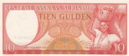 Suriname #121b 10 Gulden 1963 UNC Banknote - Surinam