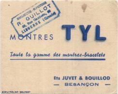 ---- BUVARD ---  Montres TYL Besançon Petit Buvard (tache-pli) - Textile & Vestimentaire