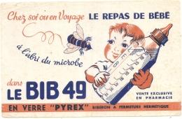 ---- BUVARD ---  BIB 49 En Verre Pyrex - TB(petites Taches Rouilles) - Bambini