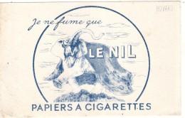 ---- BUVARD --- BUVARD  Je Ne Fume Que Le NIL Papier à Cigarettes - Tobacco