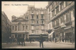 431 - ITALY Napoli/ Naples 1910s Via Guglielmo Sanfelice. Stores - Napoli (Naples)