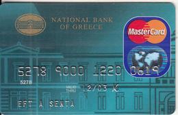 GREECE - National Bank(ICA/Electra), Master Card, 04/02, Used - Geldkarten (Ablauf Min. 10 Jahre)