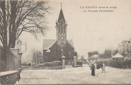 Le Raincy Sous La Neige, Le Temple Protestant - Le Raincy
