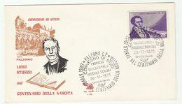 1971 Palermo  ITALY LUIGI STURZO EVENT COVER Mercadante Music Stamps - 6. 1946-.. Republic