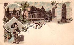 PISA-RICORDO DI PISA-CARTOLINA GRUSS-ANNO 1900-1904 - Pisa
