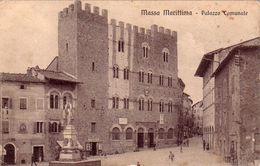MASSA MARITTIMA-GROSSETO-PALAZZO COMUNALE-CARTOLINA ANNO 1915-25 - Grosseto