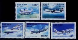Vietnam Viet Nam MNH Perf Stamps 1996 : Airplane / Modern Aircraft : Boeing / Airbus (Ms734) - Viêt-Nam