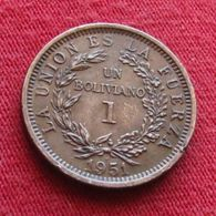 Bolivia 1 Boliviano 1951 H   Bolivie XFºº - Bolivia