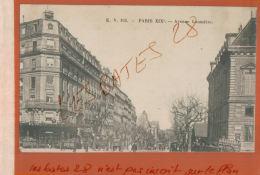 CPA 75  PARIS  Avenue Laumière       JAN 2018 637 - Arrondissement: 19