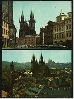 2 X Prag / Praha  -  Prager Altstadt  -  Altstädter Ring  -  Ansichtskarten Ca.1970   (8181) - Czech Republic