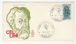 1971 ITALY FDC CELLINI Art SCULPTURE Stamps Cover - 6. 1946-.. República