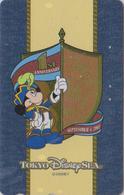 Télécarte Dorée Métal Japon / MF-1001267 - TOKYO DISNEY SEA - MICKEY ** 1st Anniversary ** - Japan Gold Phonecard - Disney