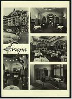 Prag / Praha  -  Hotel Europa  -  Ansichtskarte Ca.1970   (8176) - Czech Republic