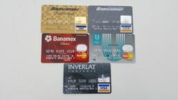 MEXICO - 5 CREDIT CARDS - OLD 90's - Geldkarten (Ablauf Min. 10 Jahre)