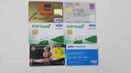 6 BANK CARDS - ARGENTINA, PERU. UK, FINLAND (2) & CHINA - Geldkarten (Ablauf Min. 10 Jahre)