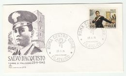 1975 ITALY FDC DEATH Of Salvo D'ACQUISTO WWII  Stamps Cover Carabinieri Police Army Forces - WW2
