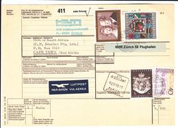 Liechtenstein / Parcel Cards / South Africa - Unclassified