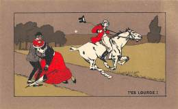 "CHROMO  FARINE LACTEE SALVY - PARIS  ""T'ES LOURDE"" - Trade Cards"