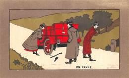 "CHROMO  FARINE LACTEE SALVY - PARIS  ""EN PANNE""  AUTOMOBILE - Trade Cards"