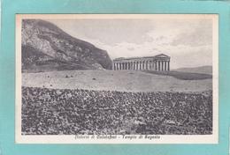 Small Antique Postcard Of Tempio Di Segesta Calatafimi,Sicilia, Italy.V4. - Italy