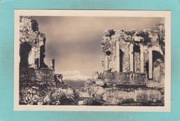 Small Antique Postcard Of Teatro Greco,Taormina, Sicily, Italy.V4. - Italy