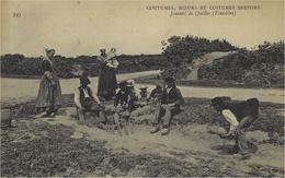 341- Coutumes,Moeurs Et Costumes BRETONS- Joueurs De Quilles ( Finistère ) Ed. N D - Autres Communes