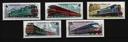 SOWJETUNION - Mi-Nr. 5175 - 5179 Lokomotiven Postfrisch - Eisenbahnen