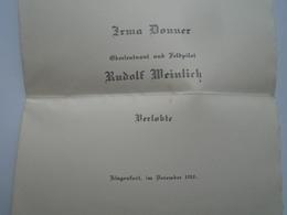 D156470 Klagenfurt Austria - Irma Donner  & Rudolf Weinlich  Oberleutenant Und Feldpilot  1918 - Engagement