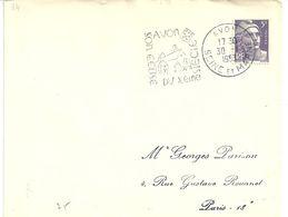 Flamme  De France - AVON ( Machine DAGUIN) 1953 - Marcophilie (Lettres)