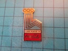 Pin512g1 Pin's Pins : Rare Et Belle Qualité : COCA-COLA JEUX OLYMPIQUES D'HIVER LAKE PLACID 1980   , Marquage Au Dos : - - Coca-Cola