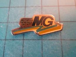 Pin512g1 Pin's Pins : Rare Et Belle Qualité : MG MUTUELLE GENERALE DES PTT   , Marquage Au Dos : -----  - - Mail Services