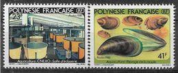 1981 PLYNESIE FRANCAISE 163-64** Aquaculture, Moules - Ungebraucht