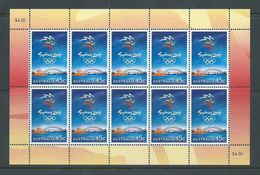 Australia 1999 Sydney Olympic Games Single X 10 In Sheet Format MNH - 1990-99 Elizabeth II