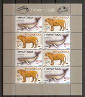 CROATIA 2016,ANIMALS FAUNA,PALEONTOLOGY,MNH,SHEET - Fossils