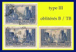N° 261 PORT DE LA ROCHELLE 1929-30 - 3 EXEMPLAIRES TYPE III - OBLITÉRÉS B / TB - France