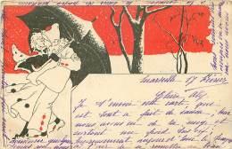 ILLUSTRATEUR.N°17126.COUPLE TYPE PIERROT.FONDS ROUGE.GENRE KIRCHNER. - Illustrators & Photographers