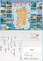 Carta Geografica Dell'isola Di Sardegna - Carte Geografiche
